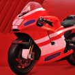Red motor bike - Stock Photo