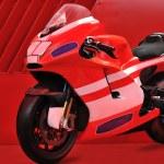 Red motor bike — Stock Photo #7805648