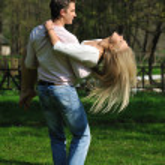 Romantic couple in love outdoor — Stock Photo #7881279