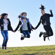 Group of teens have fun outdoor — Stock Photo #7940946