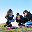 Group of teens have fun outdoor — Stock fotografie