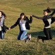 Group of teens have fun outdoor — Stock Photo #7941106