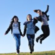 Group of teens have fun outdoor — Stock Photo #7941142