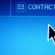 Stock Photo: Contact button hand