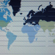 world map macro on tft screen — Stock Photo