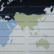 World map macro on tft screen — Foto de Stock