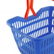 Blue shopping basket — Foto de stock #7943632