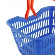Blue shopping basket — Stock fotografie