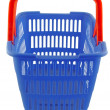 Blue shopping basket — Foto de stock #7943639