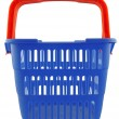 Blue shopping basket — 图库照片