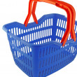 Blue shopping basket - Stock Photo