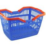 Blue shopping basket — Stock Photo