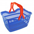 Blue shopping basket — ストック写真