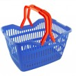 Blue shopping basket — 图库照片 #7943653