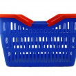 Blue shopping basket — Stockfoto