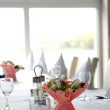 Stock Photo: Table setting in the restaurant