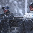 Stock Photo: Winter fun on a chair lift