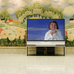 Big plasma screen indor — Stock Photo