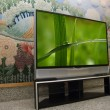 Big plasma screen indor — Stockfoto