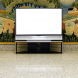 Big plasma screen with empty space to write message — Stock Photo