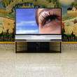 Big plasma screen indor — Stock Photo
