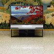 Big plasma screen indor - Stockfoto