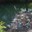 Foto Stock: Pollution in river