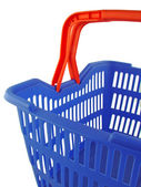 Blue shopping basket — Stock Photo