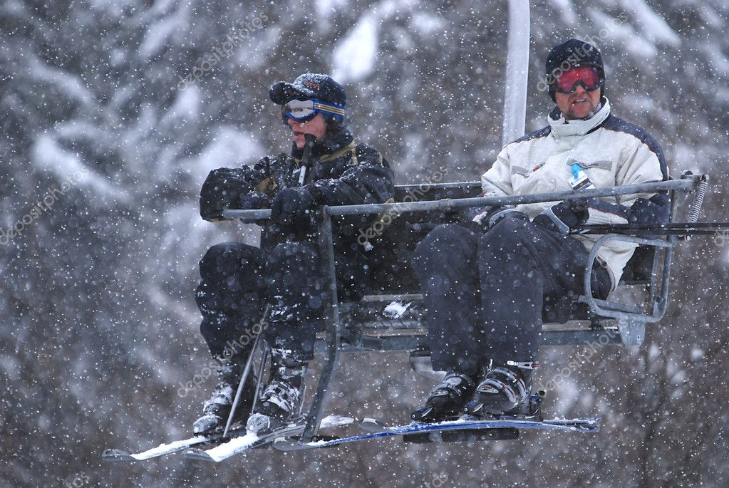 On a chair lift — Stock Photo #7944374