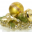 Golden christmas decorations — Stock Photo #7708188