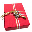 Foto Stock: Red gift box