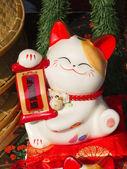 Chat en porcelaine — Photo