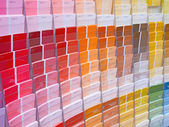 Colorful paint samples — Stock Photo