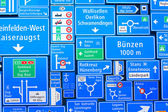švýcarský dopravní značky — Stock fotografie