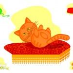 Pussy cat — Stock Vector #6962166