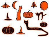 Halloween pictogrammen — Stockvector