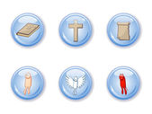 Buttons set religion — Stock Vector