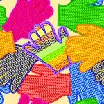 Gloves seamless texture — Stock Vector