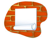 Sticker on wall — Stock Vector