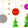 Cristmas embroideries — Stock Vector