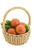 Basket with vegetables. — Stock Photo
