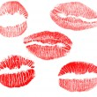 Red lips imprints collection — Stock Photo #6785306