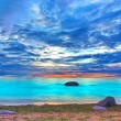 Stock Photo: Azure ocean sunset