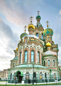 Brick orthodox russian charch — Foto Stock