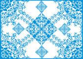 Blue on white simple design — Vector de stock