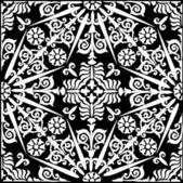 White decorated symmetrical pattern — Stock Vector