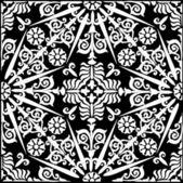 белые украшенные симметрично — Cтоковый вектор