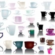 Royalty-Free Stock Vector Image: Different isolated cups collection