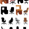 Office furniture collection — Stock Vector #7199478
