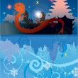Royalty-Free Stock Vector Image: New year illustration with red dragon